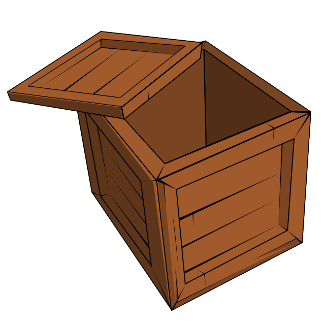 Open crate png. Wood clipart