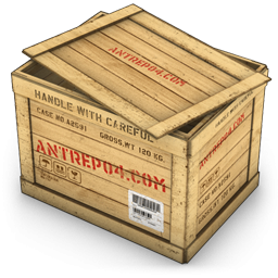 Box clipart crate. Opened wood