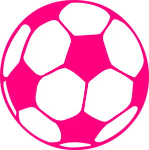 Soccer ball clipart pink. Hot clip art at