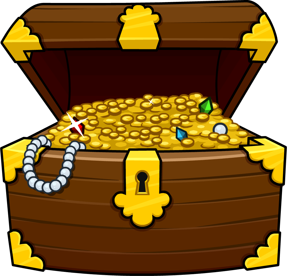 Treasure clipart sunken treasure. Box free