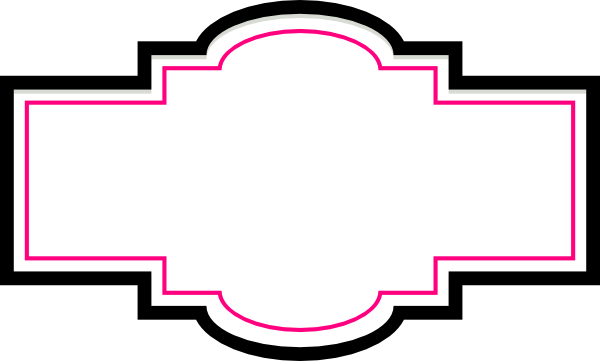 Box labels png. Label pink and black