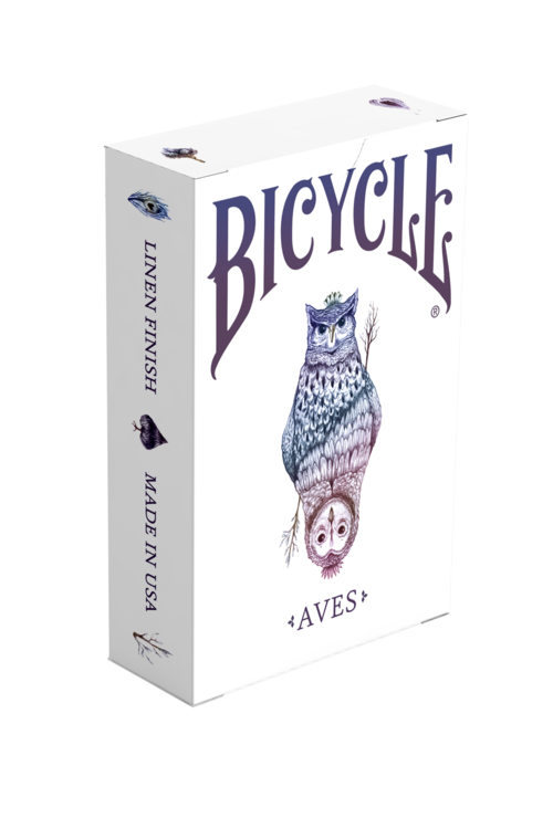 Box of cards png. Aves bicycle playing owl