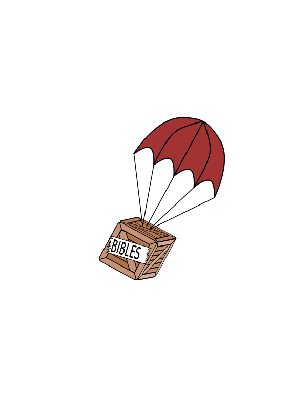 Boxchute. Free clipart parachute on