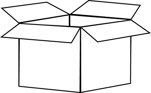 Boxes clipart black and white. Box clip art image