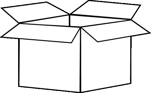 Boxes clipart black and white. Box iosmusic org clip