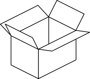 Boxes clipart black and white. Box