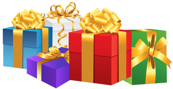 Boxes clipart gift. Bunch of png gallery
