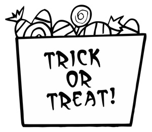 Boxes clipart halloween. Candy cartoon image coloring