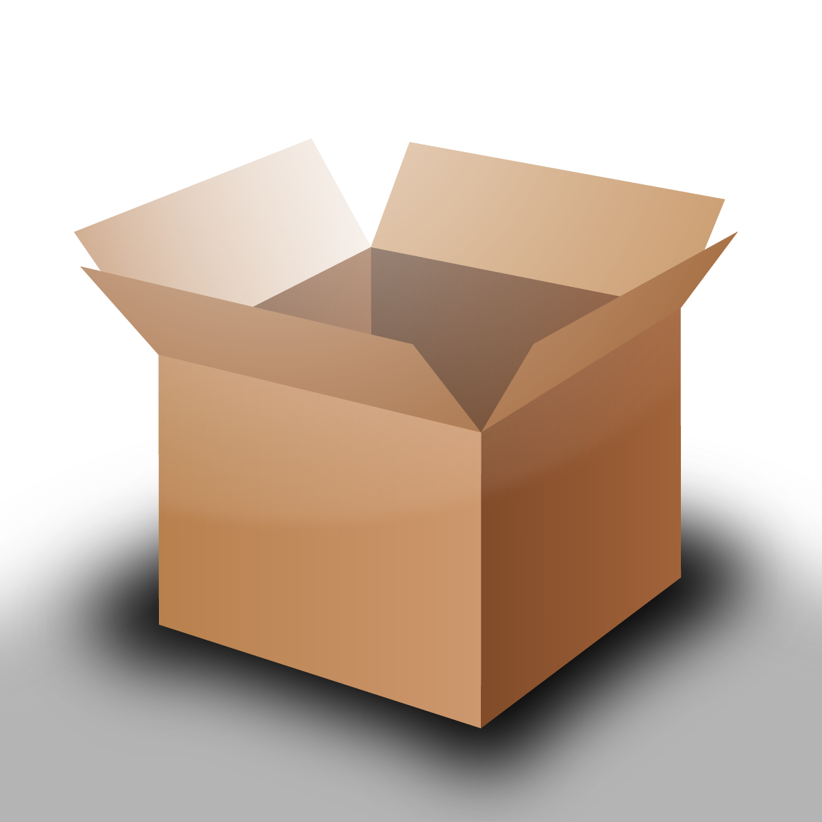 Boxes transparent png. File open cardboard box