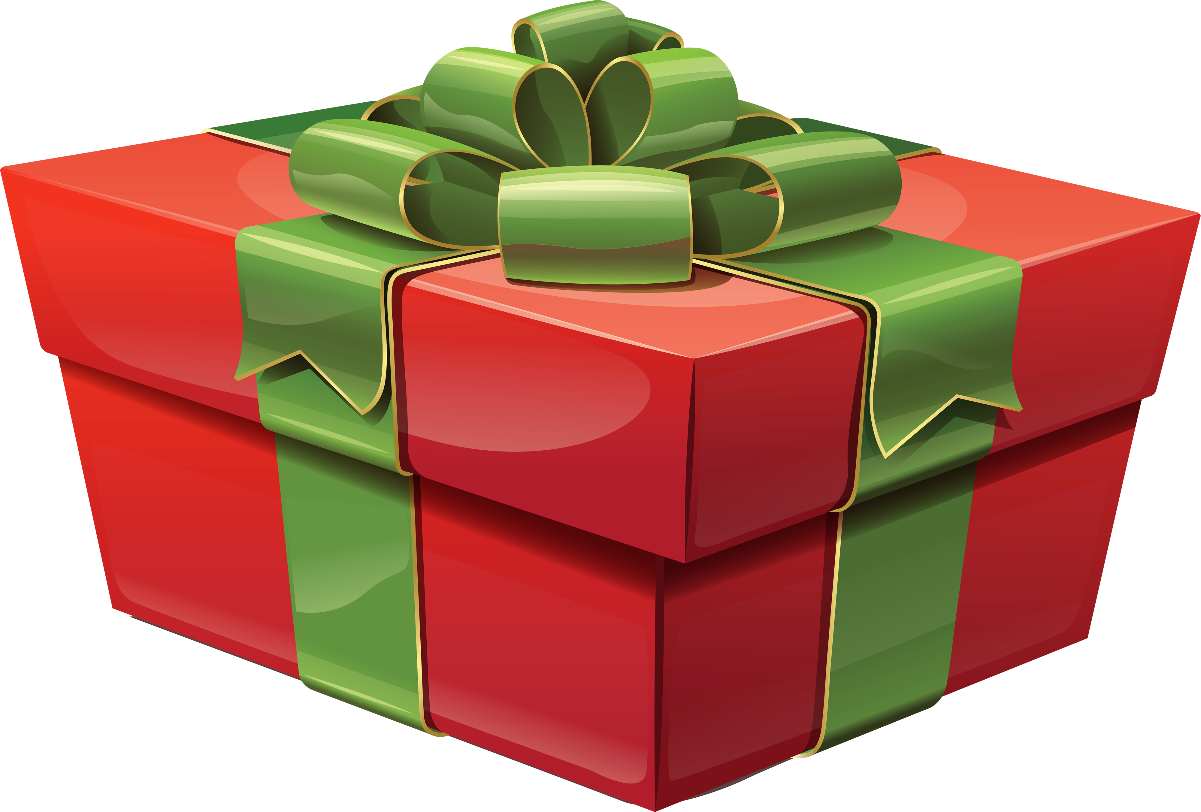 Christmas present box png. Transparent red large gift