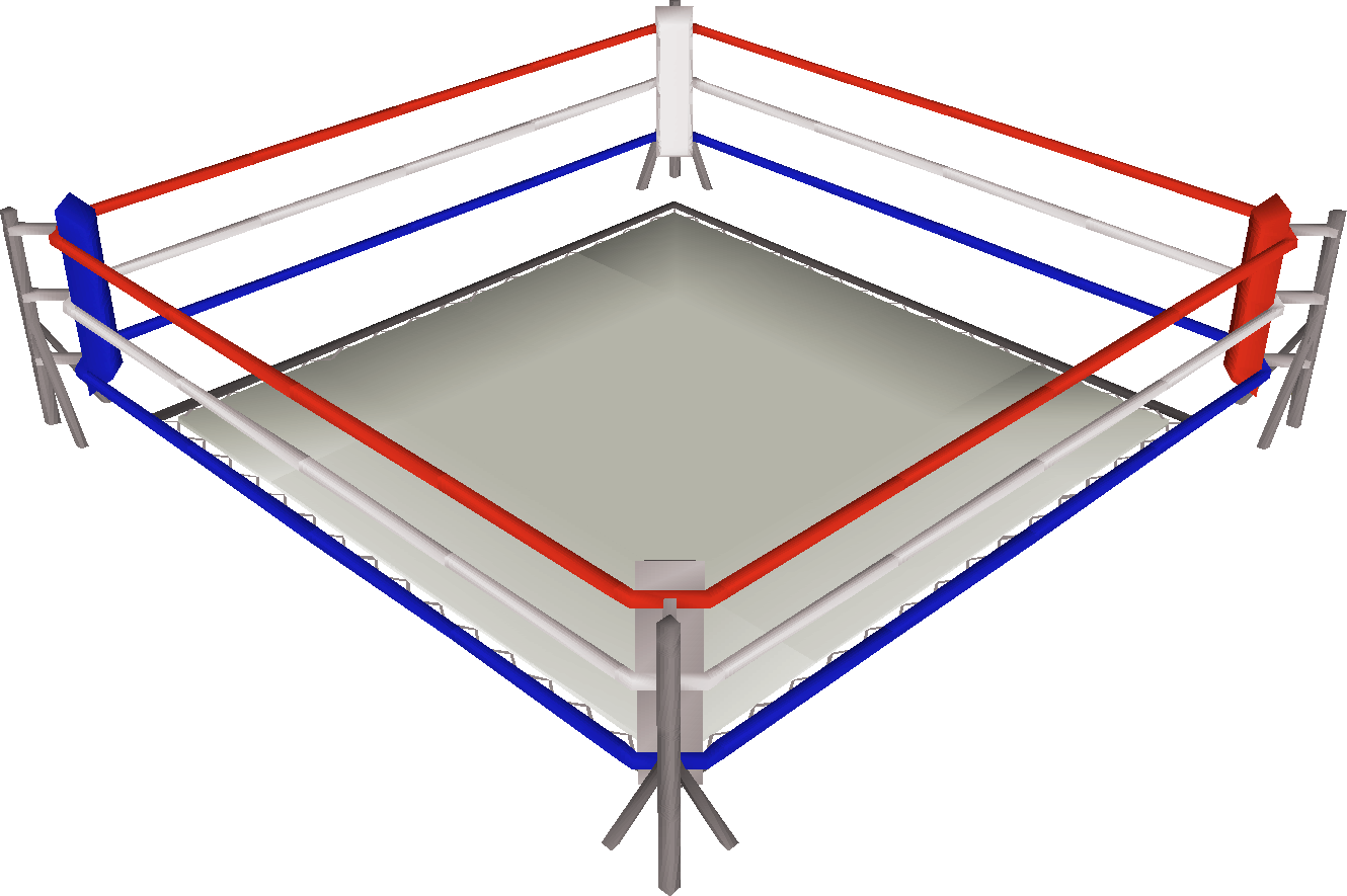 Boxing ring png. Image built old school