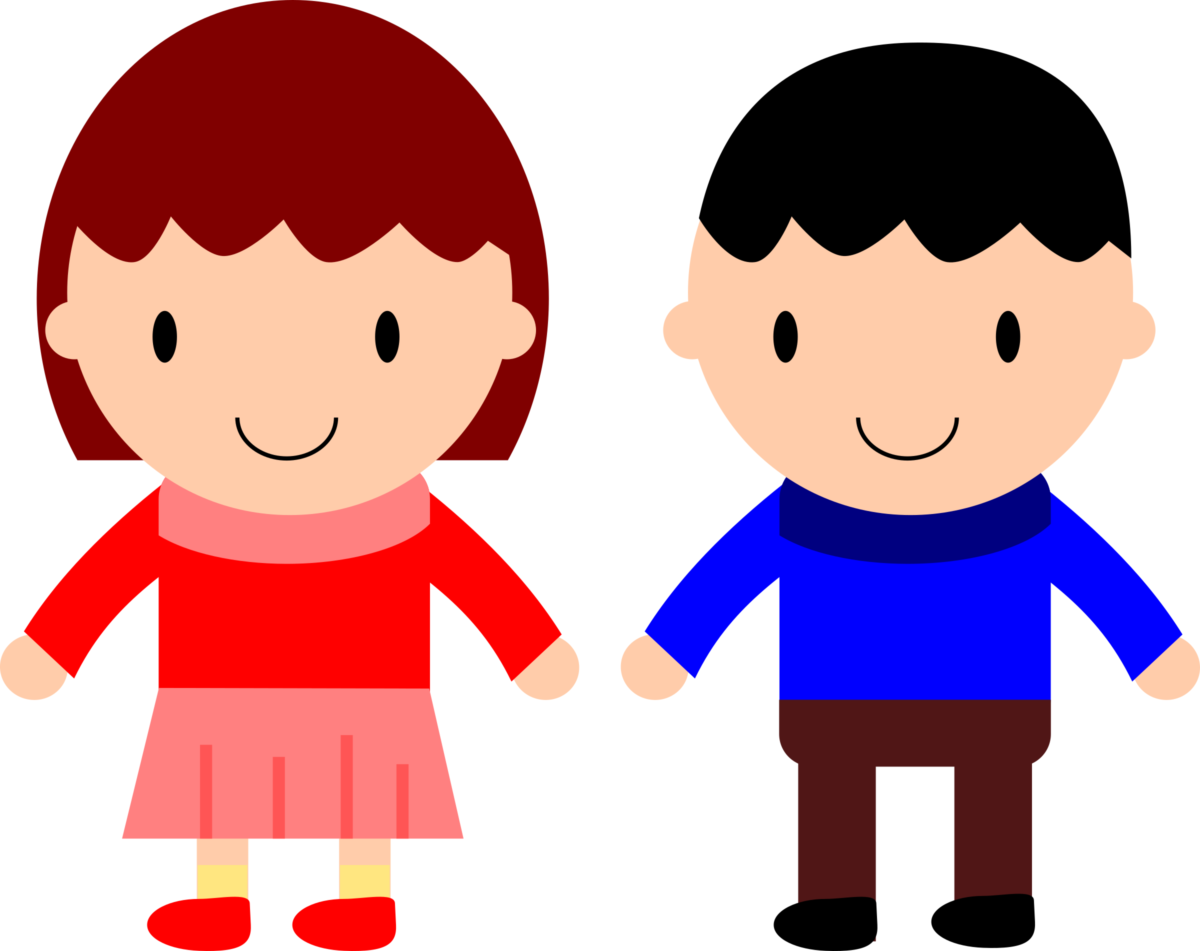 Boy and girl png. Clipart clip art images