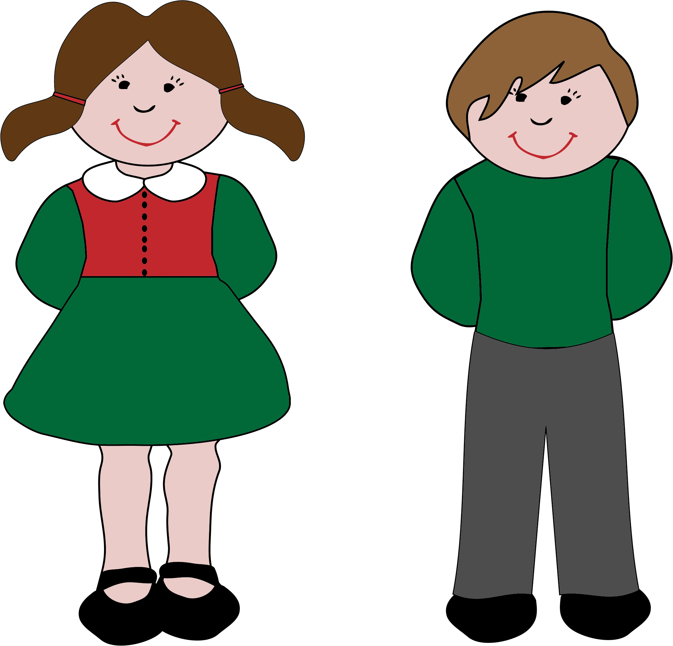 Boy and girl png. Icons free downloads this