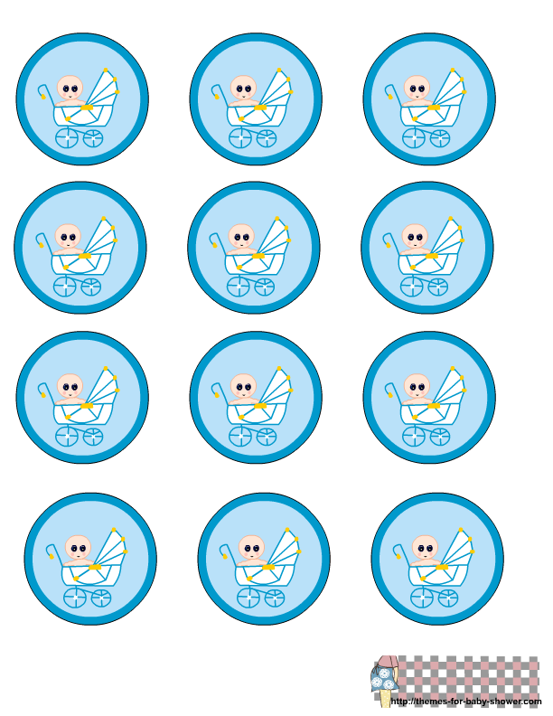 boy baby shower labels png