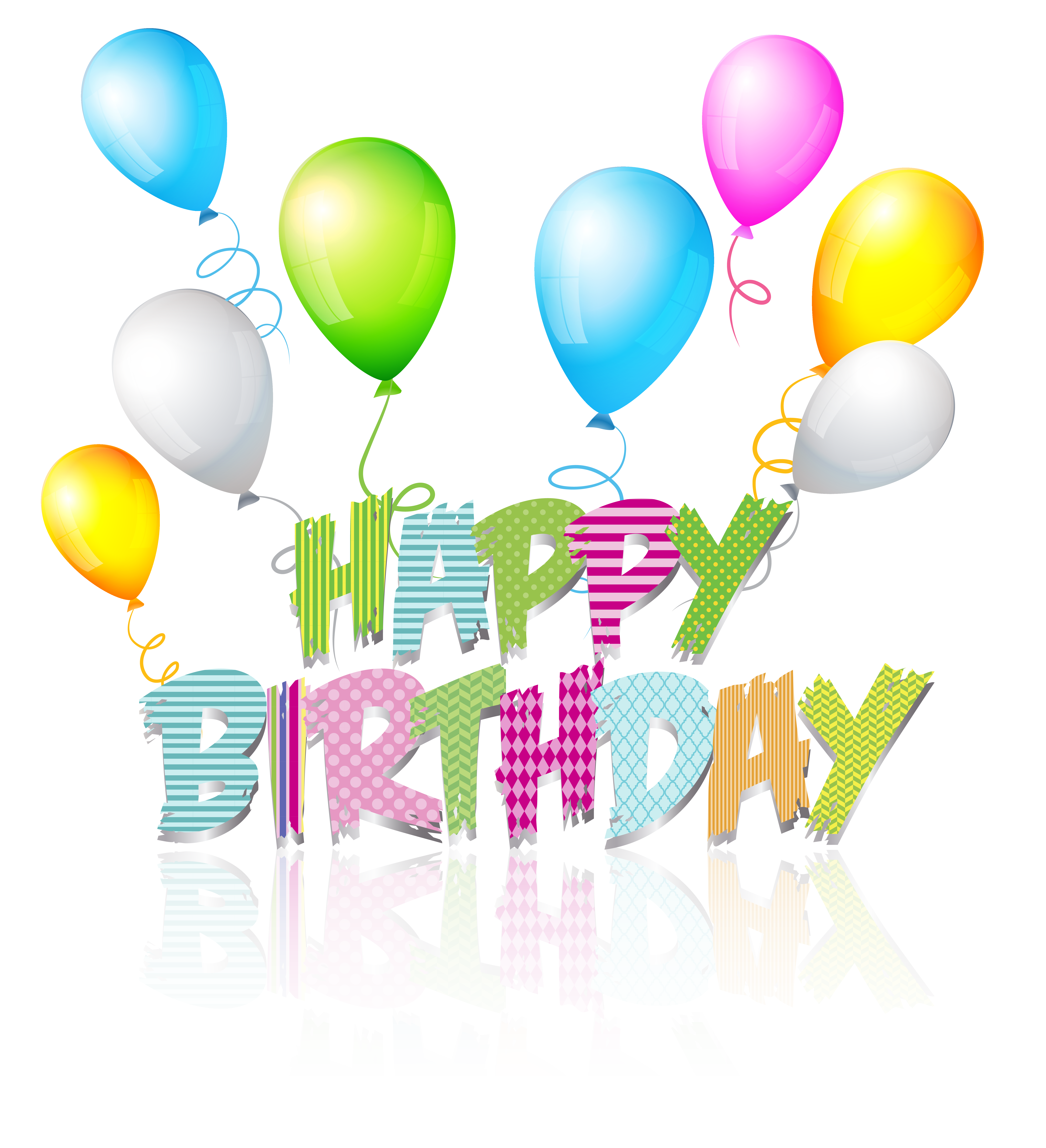 Boy birthday png. Party coloured happy text