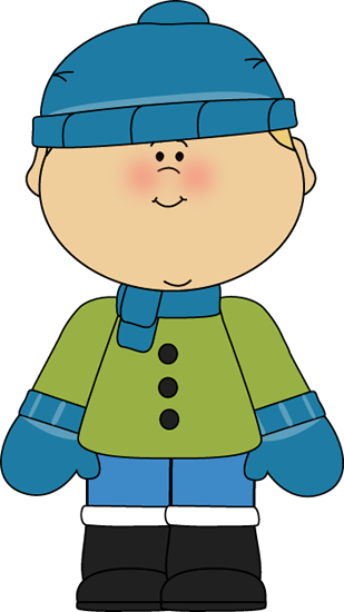 Boy clipart winter. Dressed for christmas clip