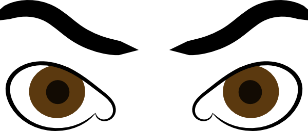 Mad eyebrows png. Eyes on you clipart