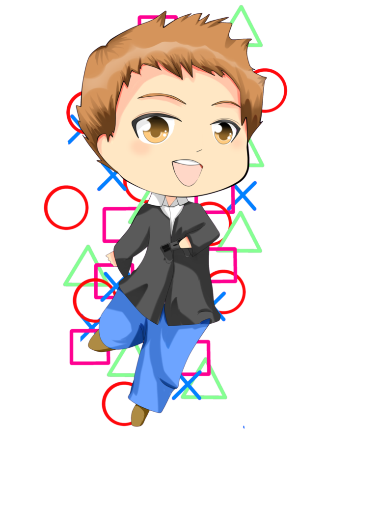 Boy gamer png. Chibi request game by