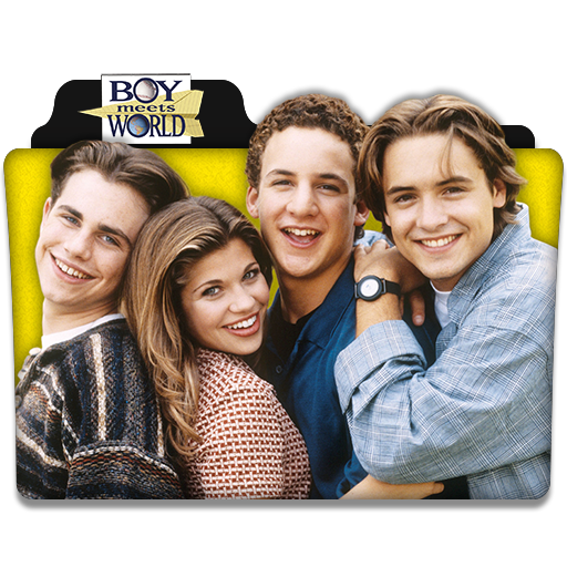 Boy meets world logo png. Tv series folder icon
