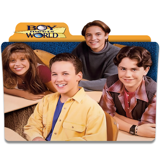Boy meets world logo png. Folder icon by mikromike