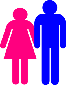 Boy stick figure png. And girl together clip