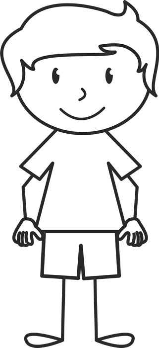 Boy stick figure png. With solid shirt rubber