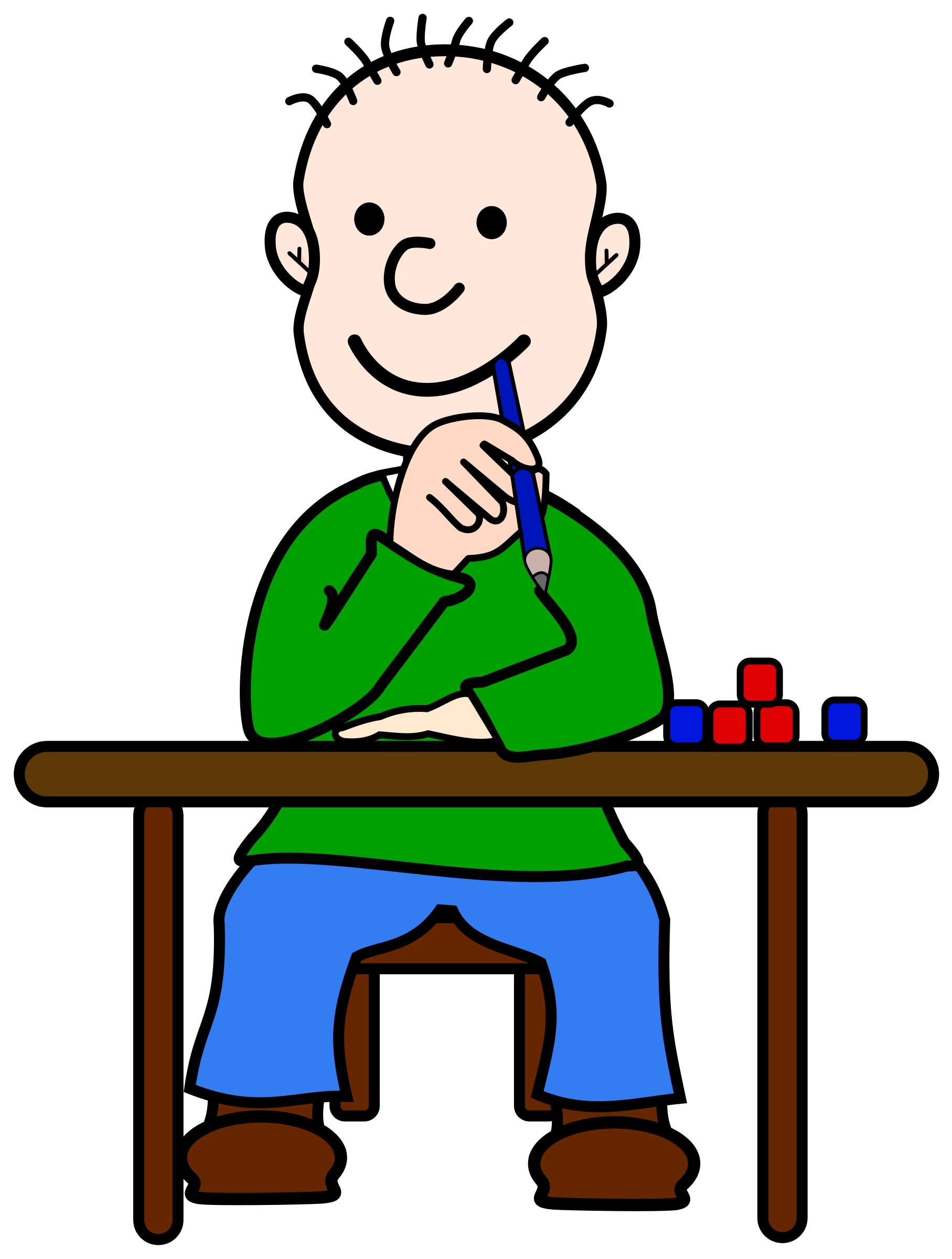 Thinking clipart png. Child hd transparent images