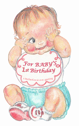 Boys clipart happy birthday. One year old baby
