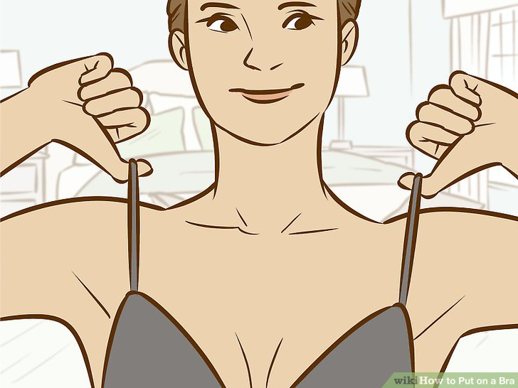 Bra clipart straight arm. How to put on
