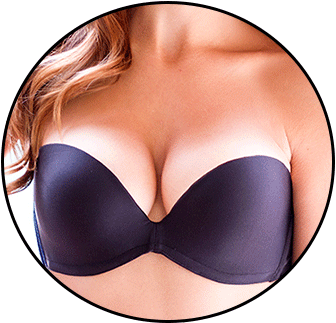 Bra transparent netted. Cleavage lift like never