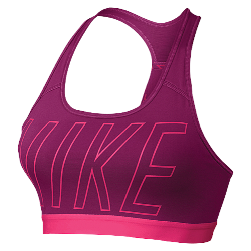 Bra transparent training. Nike pro logo padded
