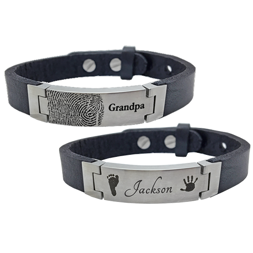 Bracelet clip buckle. Personalized stainless steel leather
