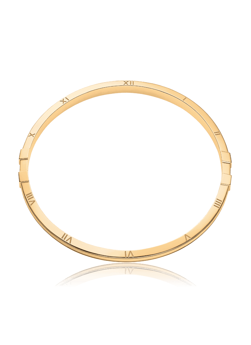 Bracelet vector circle. Bangle in k yellow