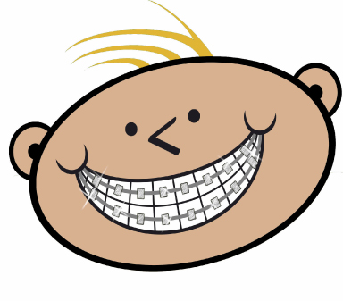braces clipart smile person