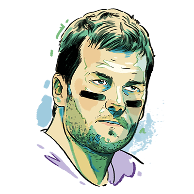 Brady drawing face. Ranking the super bowl