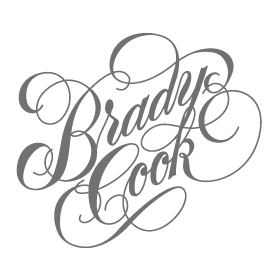 Brady drawing black and white. Cook on behance