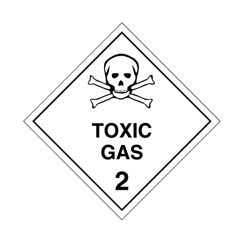 Brady drawing black and white. Dangerous goods sign placard