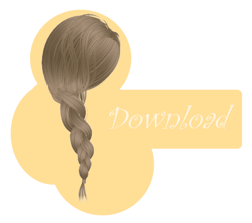 Braided hair png. Mmd braid dl by