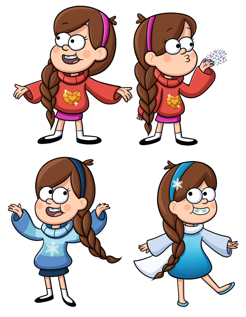 Braids vector animated. Mabel elsa braid by