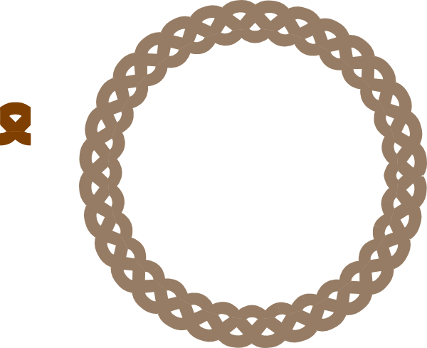 Braids vector clipart. Circle frame braid tan