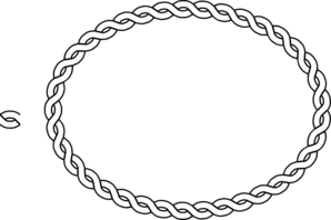 Braids vector clipart. Oval rope border clip