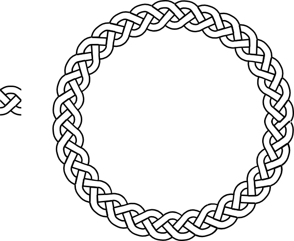 Braids vector clipart. Plait border circle