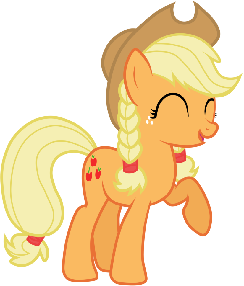 Braids vector pigtail. Applejack with a by