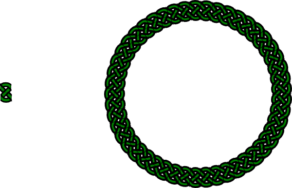 Braids vector transparent. Green celtic knot braid