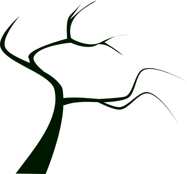 Bare clipart spooky tree. Branch silhouette at getdrawings