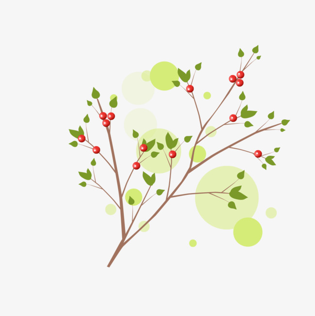 Branch clipart decorative branch. Fresh green branches decoration