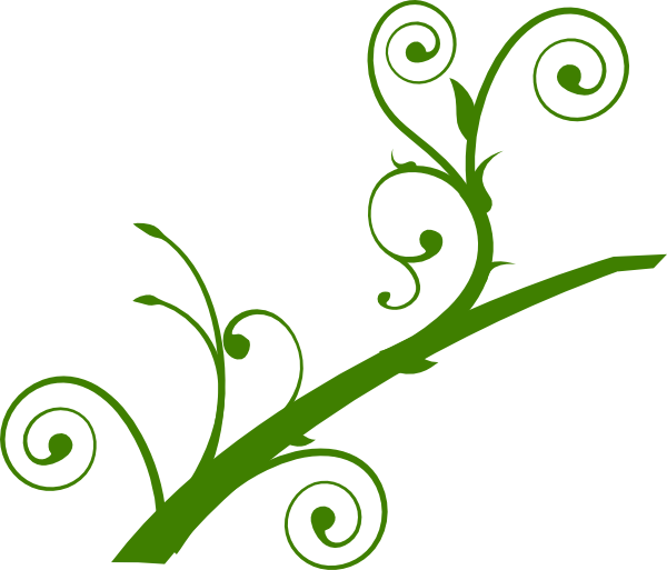 Greenery vector clip art. Green branch leaves at
