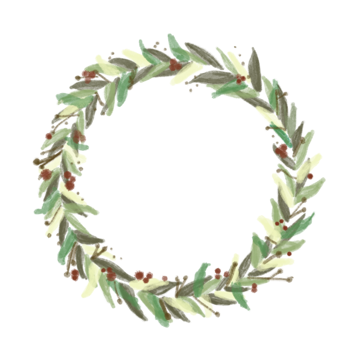 Paint save transparent png. Painted wreath graphic free