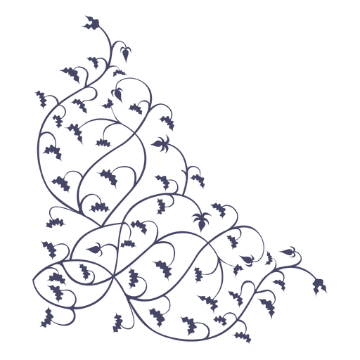 Branches svg. Ornament corner hanged transparent