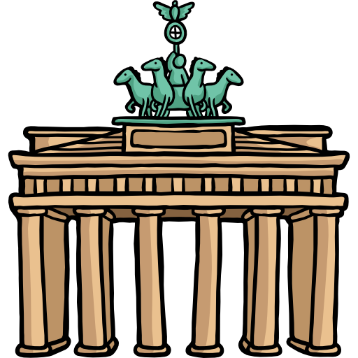 Brandenburg gate png. Free monuments icons icon